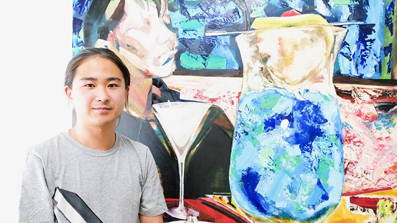 インタビュー Be-ean 深澤雄太 現代美術 油彩画 OBIKAKE